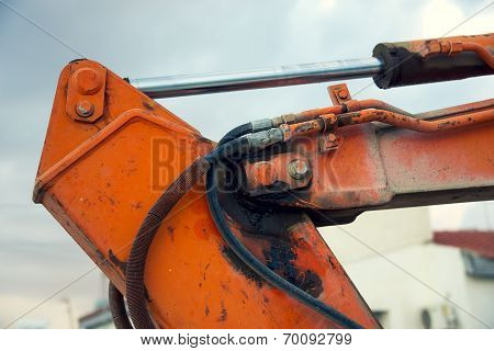 Part Of The Hydraulic System Of An Excavator