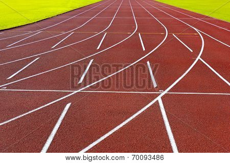 Curve Of Running Tracks