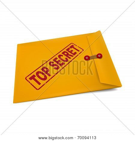 Top Secret Stamp On Manila Envelope