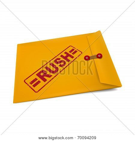 Rush Stamp On Manila Envelope