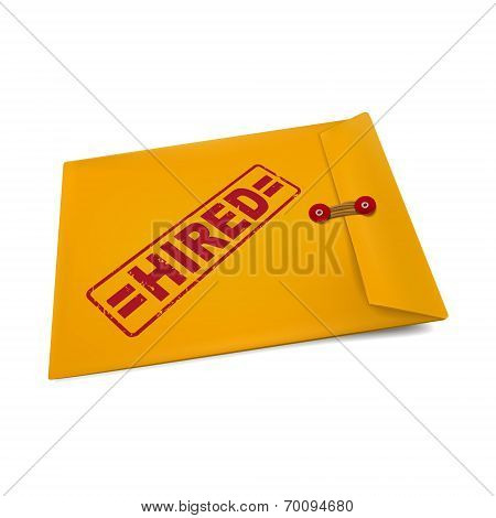 Hired On Manila Envelope
