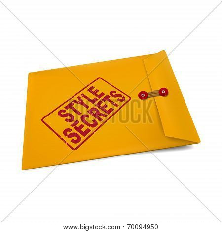 Style Secrets On Manila Envelope