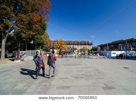 Tokyo, Japan - November 22, 2013: Visitors Visit Tokyo National Museum In Tokyo, Japan