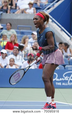 Sixteen times Grand Slam champion Serena Williams at Billie Jean King National Tennis Center during
