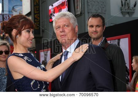 LOS ANGELES - AUG 13:  Olga Kurylenko, Roger Donaldson at