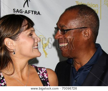 LOS ANGELES - AUG 12:  Nora Chavooshian, Joe Morton at the Dynamic & Diverse:  A 66th Emmy Awards Celebration of Diversity Event at Television Academy on August 12, 2014 in North Hollywood, CA