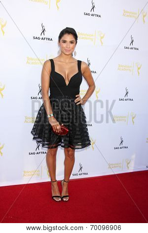LOS ANGELES - AUG 12:  Diane Guerrero at the Dynamic & Diverse:  A 66th Emmy Awards Celebration of Diversity Event at Television Academy on August 12, 2014 in North Hollywood, CA