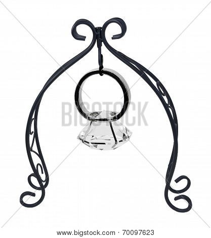Scroll Stand Holding Engagement Ring