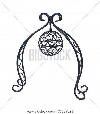 Metal Scroll Stand Holding Metal Scroll Ball