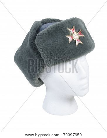 Side Fur Cap Cross Pin