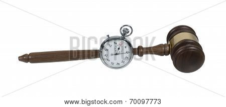 Stopwatch And Gavel
