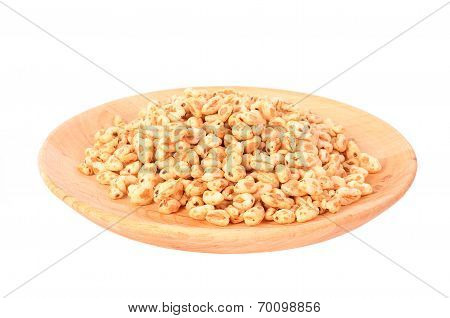 Puffed Rice Isolated On A White Background