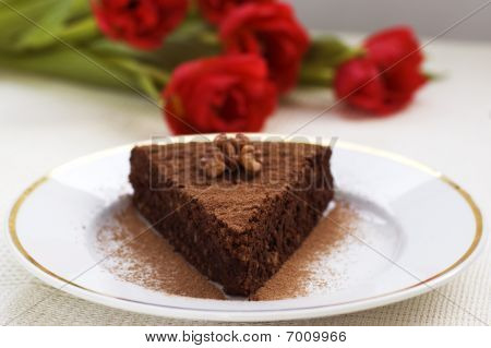 Slice Of Chocolate Cake