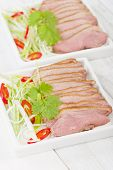 stock photo of duck breast  - Tea Smoked Duck  - JPG