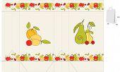 Постер, плакат: шаблон для мешка с фруктами элемент