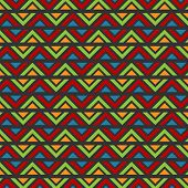 stock photo of batik  - Zig Zag Abstract Batik Vector Background Pattern - JPG