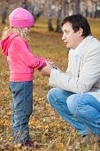 stock photo of pity  - Dad pitying daughter - JPG