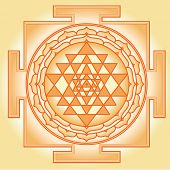 stock photo of sanskrit  - Shri Chakra Yantra - JPG