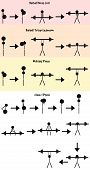 picture of stickman  - Stickman Weight training icon vector set contains bicep curl - JPG