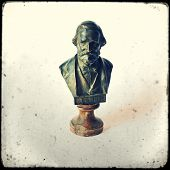 picture of aida  - Bust of Giuseppe Verdi on a white background - JPG