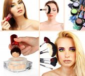 Photo of make-up collage.
