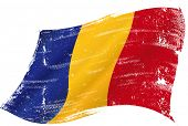 picture of chad  - waving Chadian grunge flag - JPG
