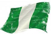 pic of nigeria  - waving nigerian grunge flag - JPG