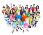 pic of pre-adolescent child  - Large Group of Children - JPG