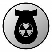 picture of bombshell  - Bomb button on white background - JPG