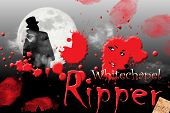 picture of ripper  - Jack the ripper with the moon in the background and blood in the foreground - JPG