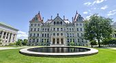 picture of capitol building  - The New York State Capitol Building in Albany home of the New York State Assembly - JPG