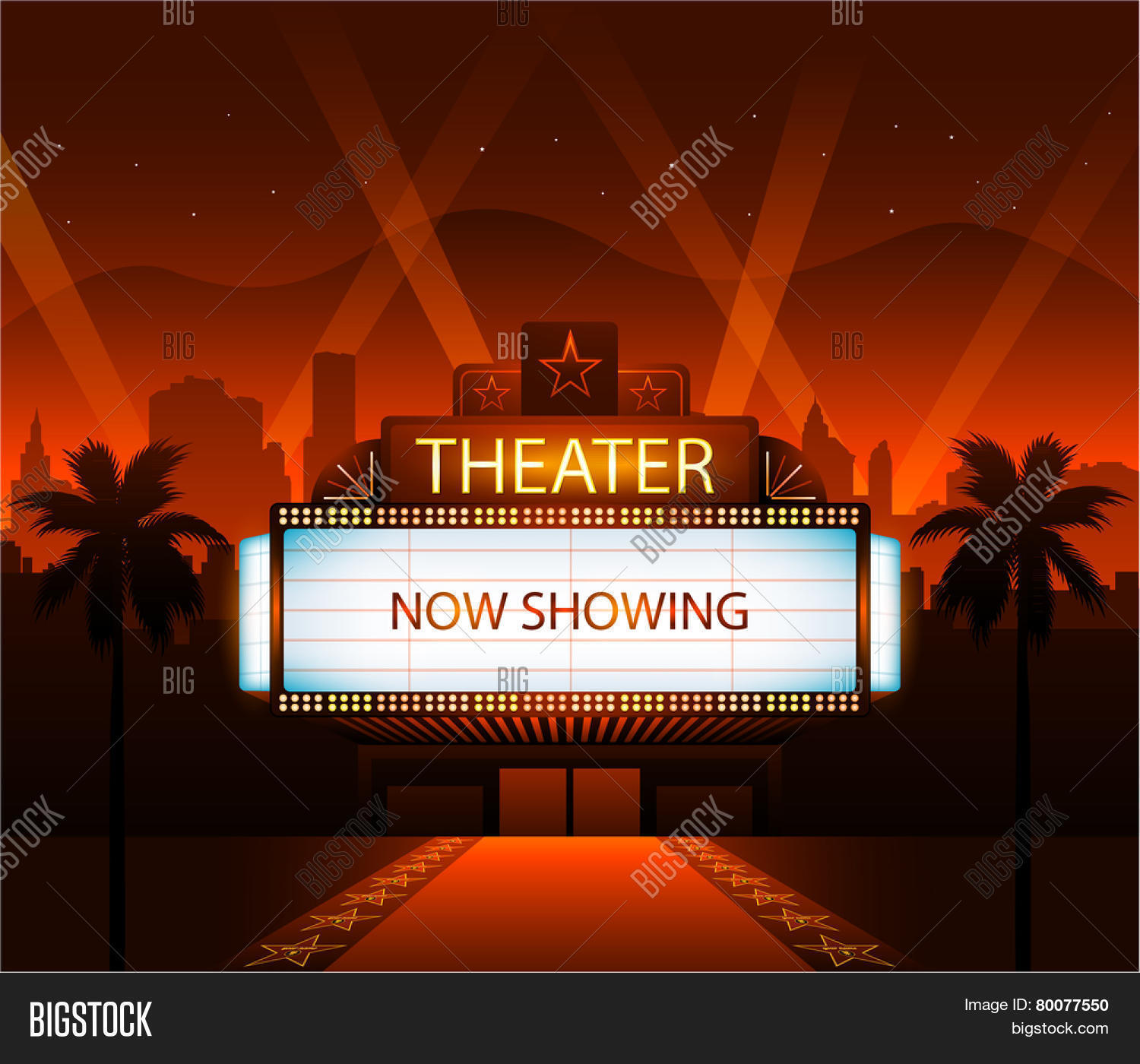 now showing vector theater movie vector amp photo bigstock