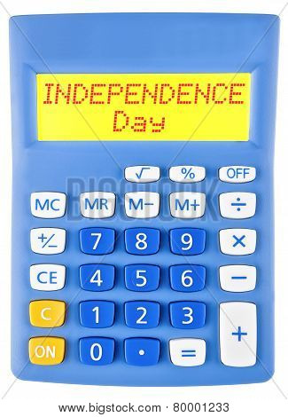 Calculator With Independence Day