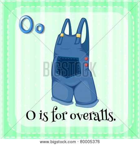 A letter O which stands for overalls