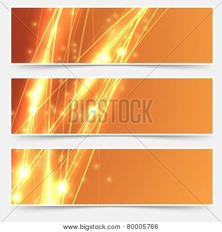 Bright Swoosh Speed Line Abstract Header Set