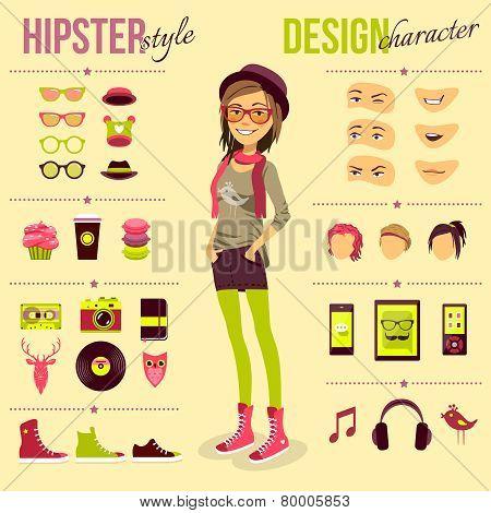 Hipster Girl Set