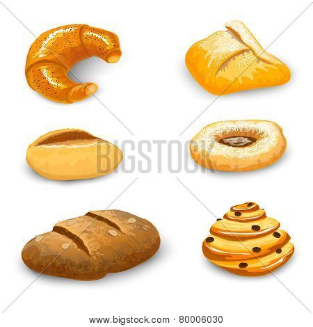 Bakery Set Isolated