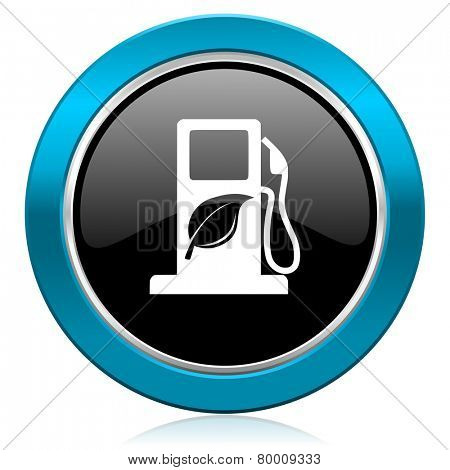 biofuel glossy icon bio fuel sign