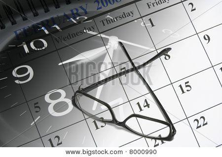 Calendar And Eyeglasses