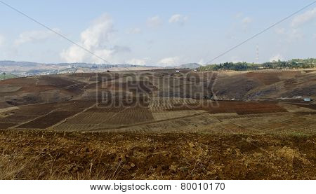 barren and arid field