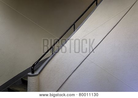 Fragment Of Spiral Staircase In The Big House