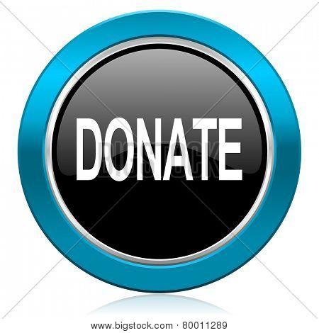 donate glossy icon