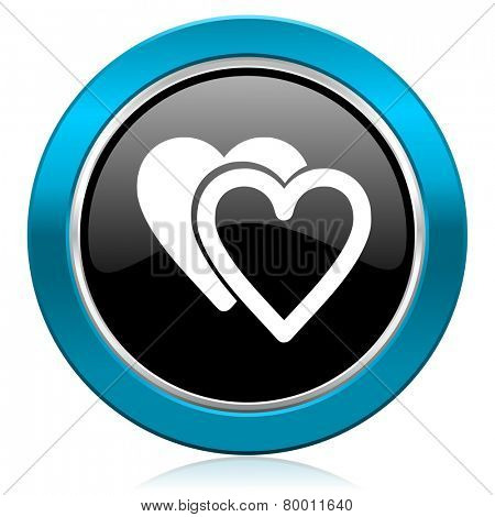 love glossy icon glossy sign hearts symbol