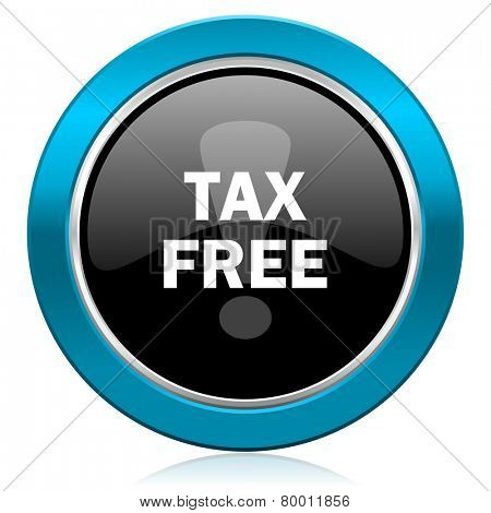 tax free glossy icon