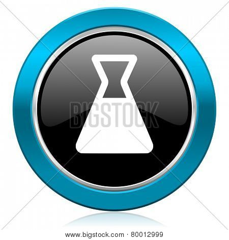 laboratory glossy icon