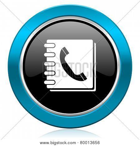 phonebook glossy icon