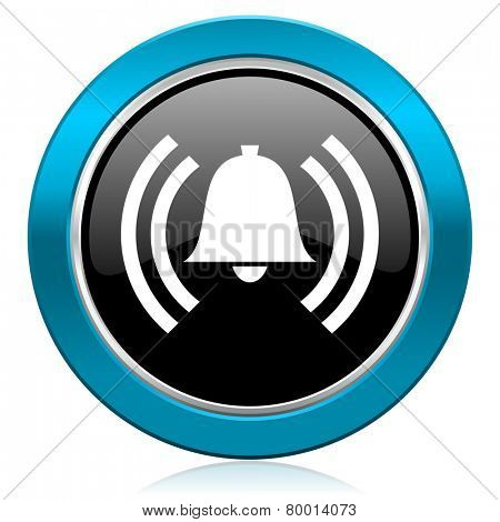 alarm glossy icon alert sign bell symbol