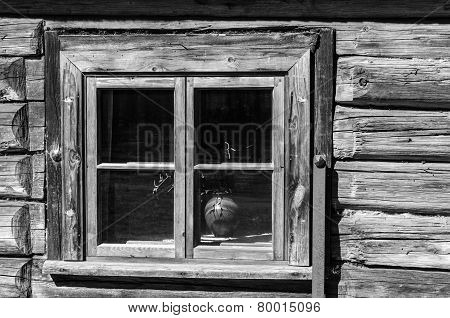 Old Wooden Window , Close-up