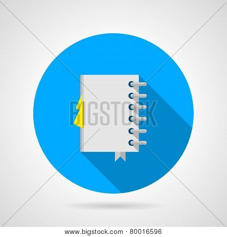 Flat vector icon for office notebook