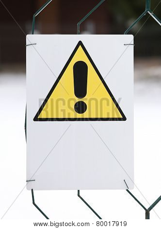 Danger Sign Yellow With White Space To Write